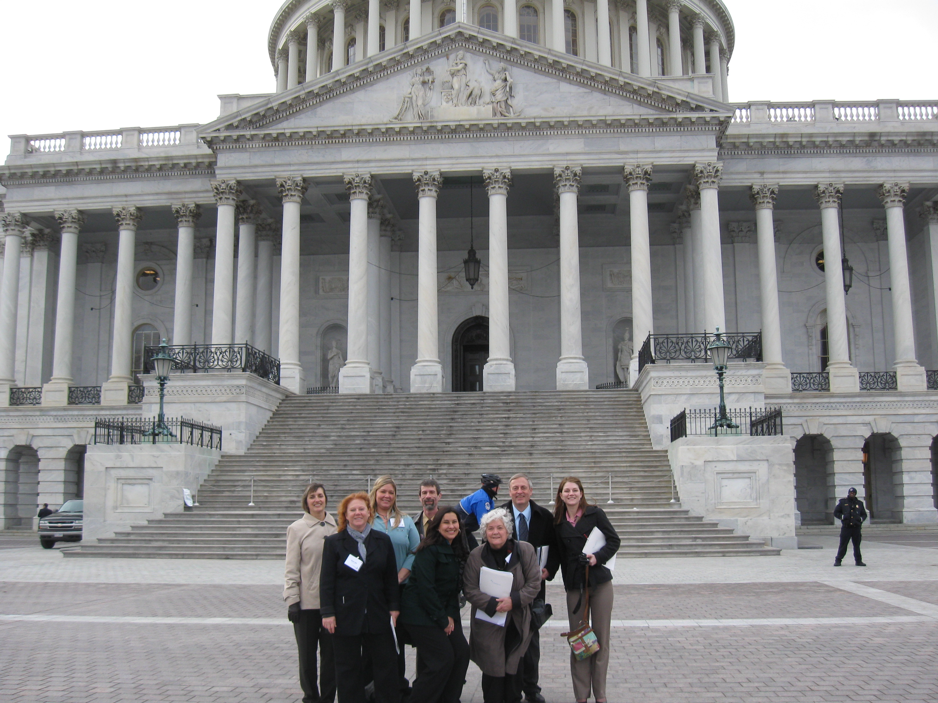 Capitol Building Photo Op for Clean Water Group Representing NE Indiana