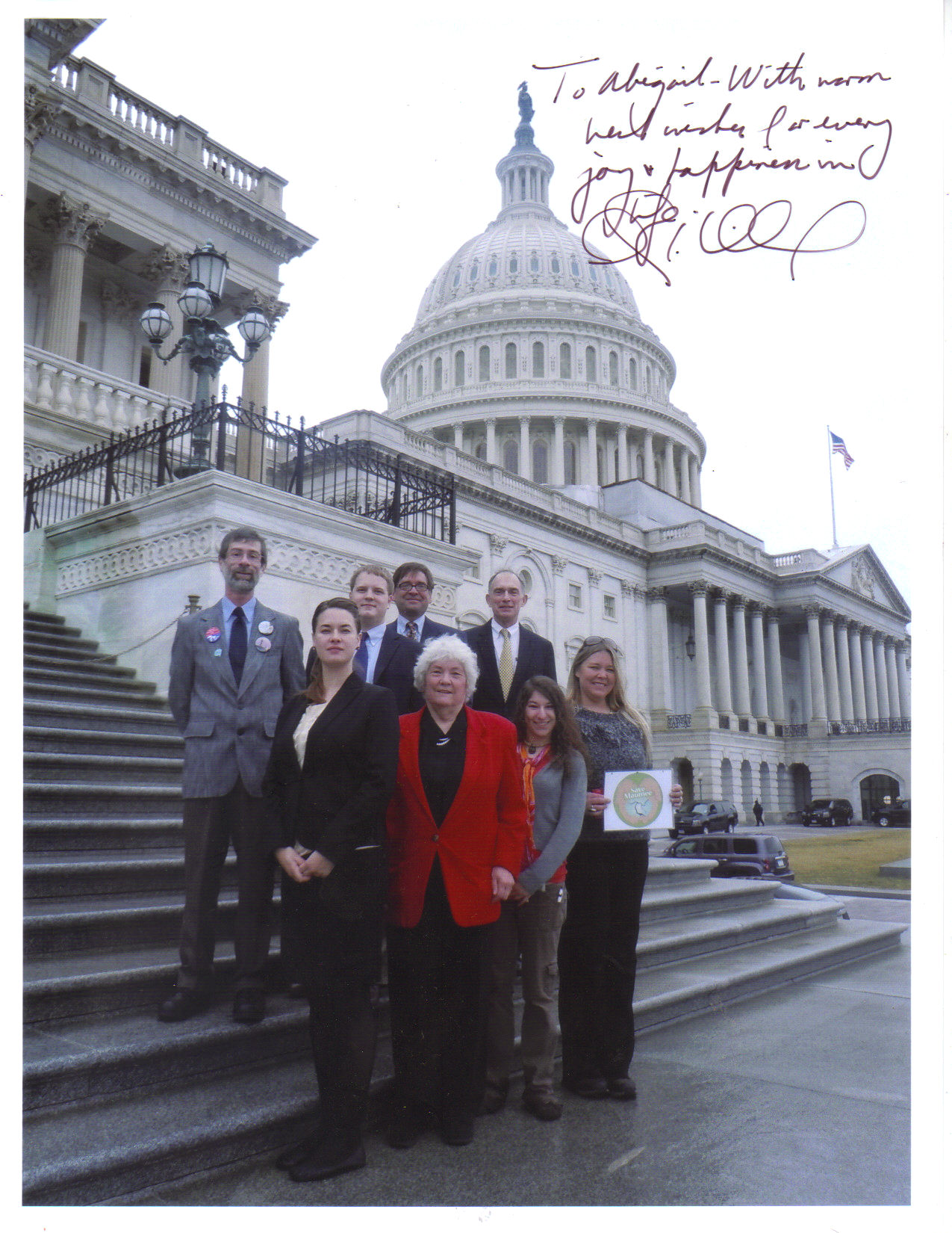 Peter Visclosky & Clean Water Advocates in front of the Capitol Building!